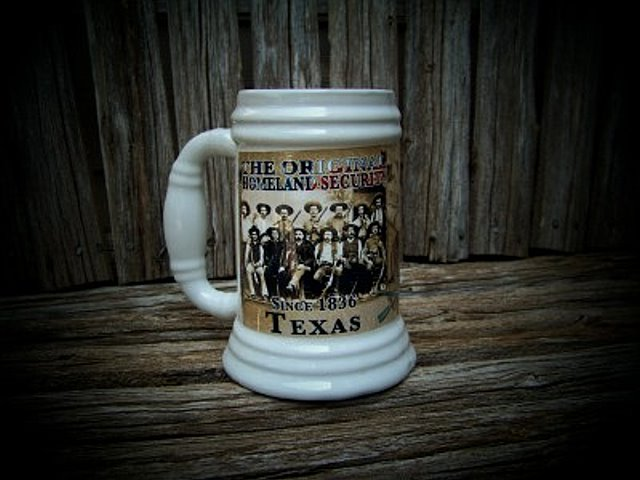 Original Homeland Security - Since 1836  Texas Rangers Stein