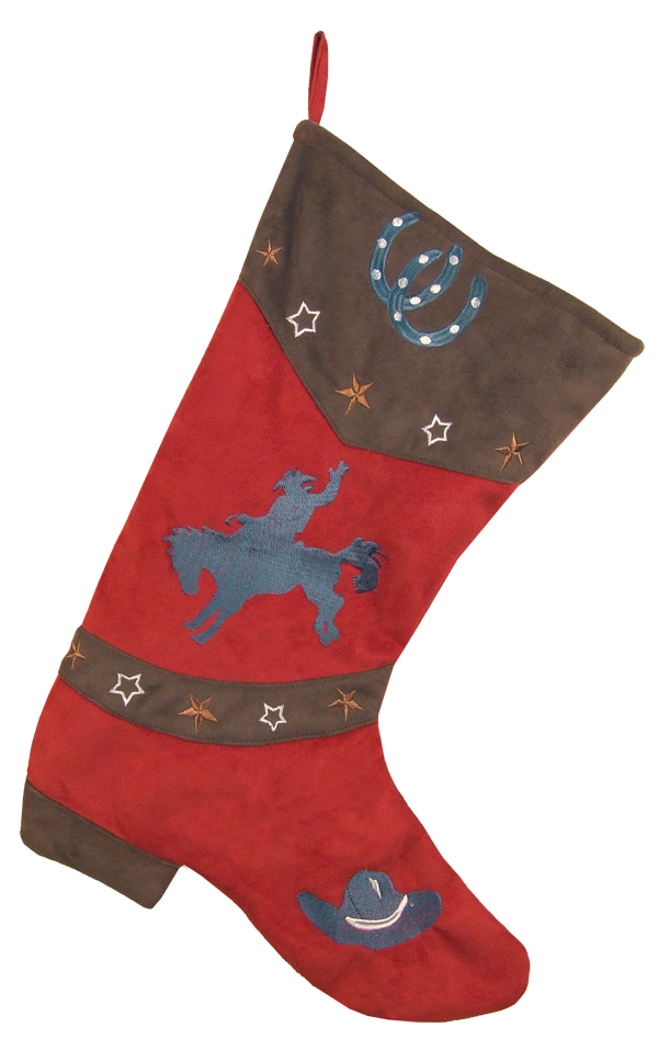 Boot Stocking - Texas Christmas Red