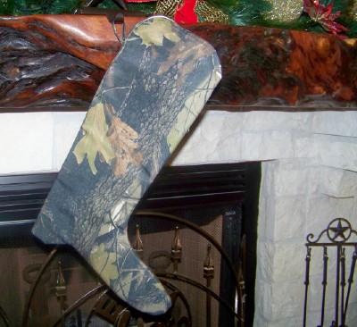 Boot Texas Christmas Stocking with Camo