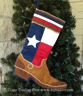 Texas Size Texas Flag Boot Stocking