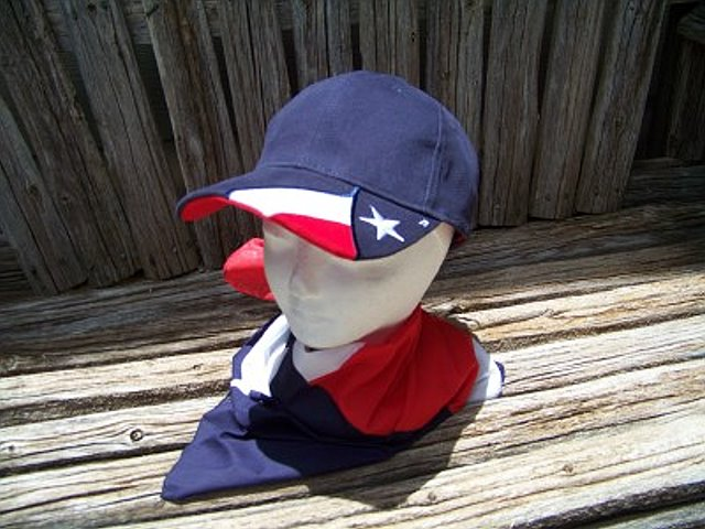 Cap in Navy with the Texas Flag