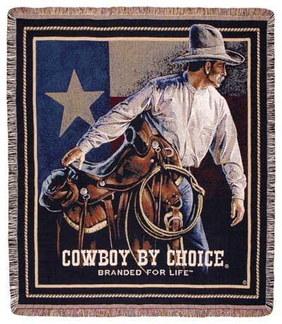 Cowboy by Choice Afghan Throw Blanket