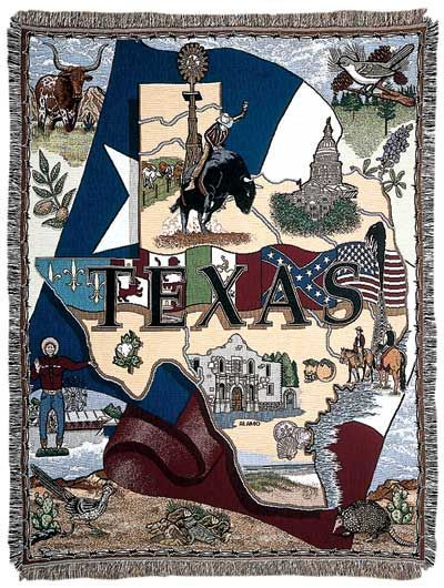 Afghan Texas Icon Blanket Throw