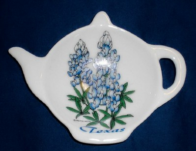 Bluebonnet Ceramic Tea Bag Caddy