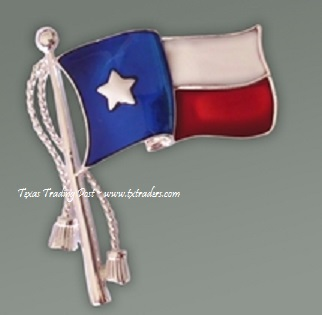 Ladies Texas Flag Pin