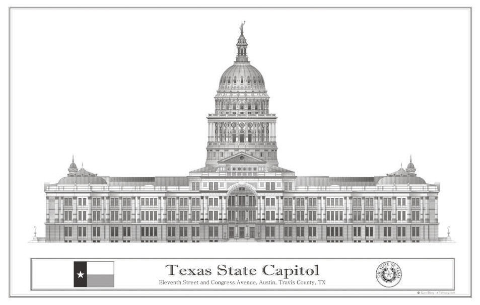 texas state capitol building coloring page coloring pages