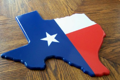 Texas - Texas Map Wall Decor - Texas Decor