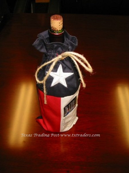 Texas Flag Wine Bag