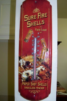 """Sure Fire"" Thermometer-Inside/Outside Decor"