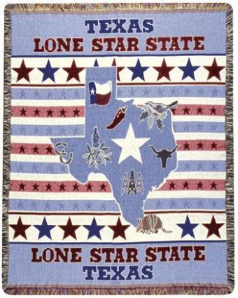 Afghan Texas Lone Star State Throw Blanket