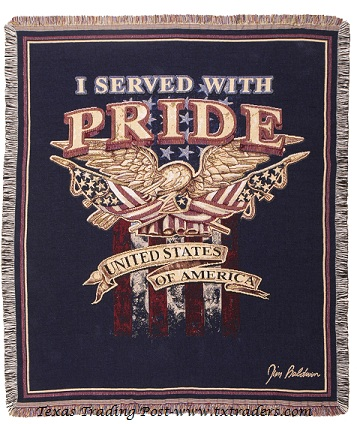 Afghan I Served With Pride-Honoring our Veterans Throw Blanket