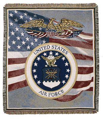 Afghan United States Air Force - USAF Throw Blanket