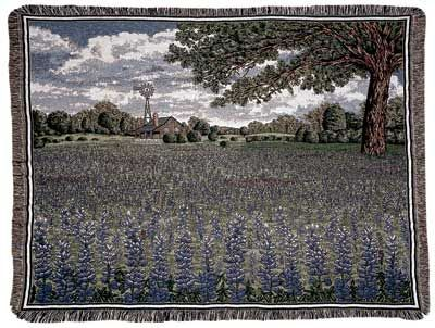 Texas Bluebonnet Throw Blanket
