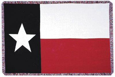 Afghan Texas Flag Throw Blanket for Texas Babies