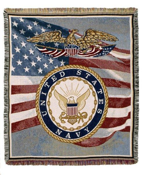 Afghan United States Navy Throw Blanket