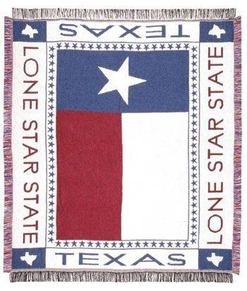 Texas Lone Star State Afghan Throw Blanket