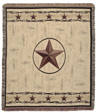 Texas Lone Star Throw