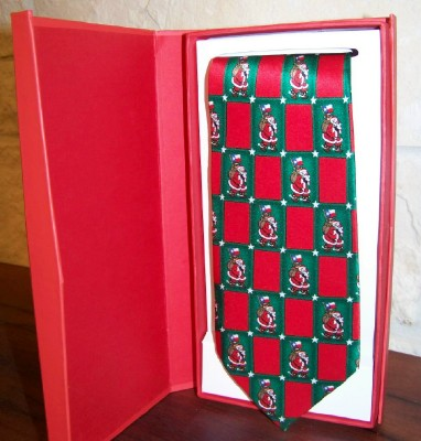 Silk Necktie - Santa with the Texas Flag