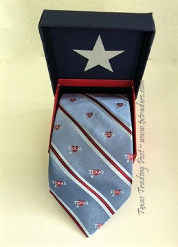 Texas Silk Necktie with Hearts