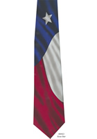 Texas Flag Silk Necktie