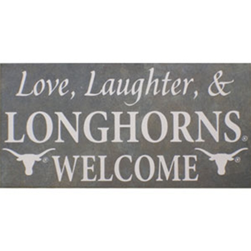 Tile Stone Art -Love, Laughter & Longhorns Welcome