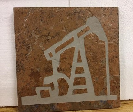 Tile Stone Art - Oil well