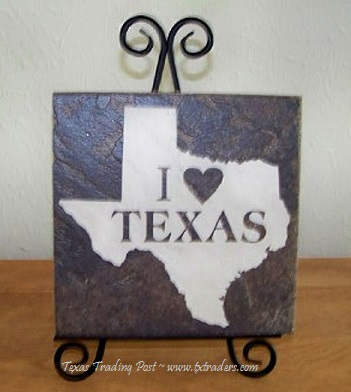 Tile Stone Art - I Love Texas