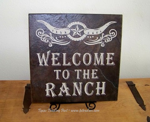 Tile Stone Art-Welcome to the Ranch