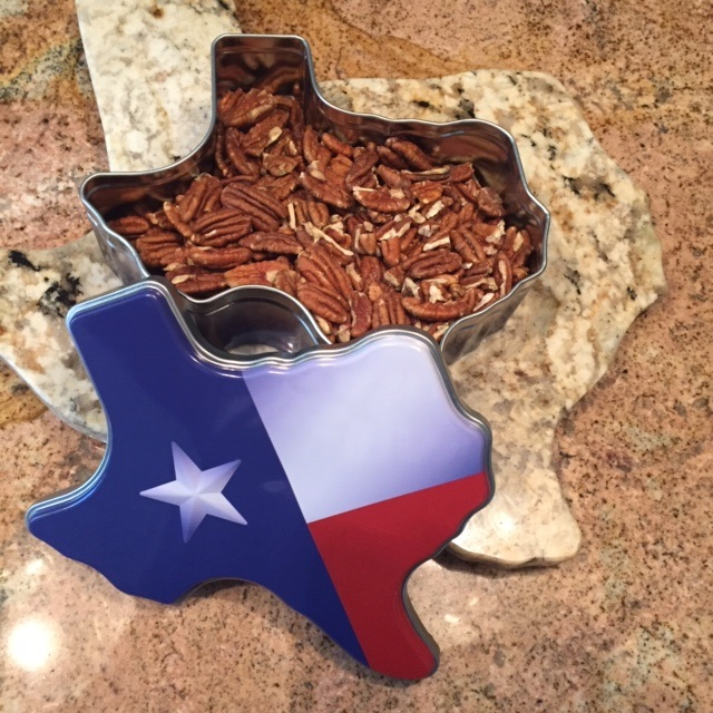Texas Shaped Flag Gift Tin with Texas Nuts