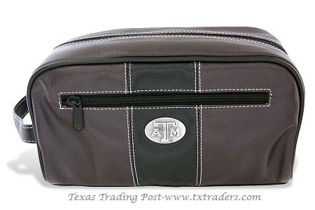 Aggie Toiletry Bag with ATM Concho