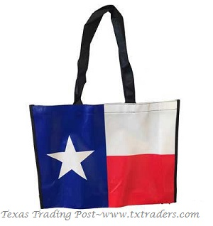 Texas Flag Laminated Tote Bag