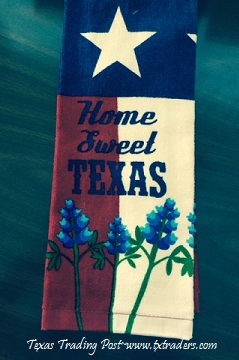 Plush Kitchen or Bathroom Texas Hand Towel - Home Sweet Texas