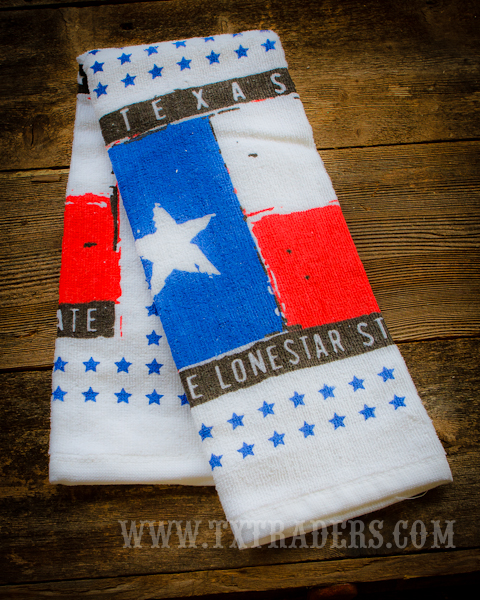 Texas Kitchen Dish Towel - Texas Flag and the Lone Star State