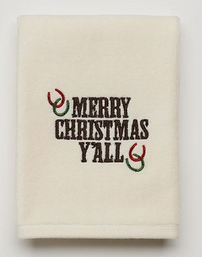Christmas Texas Hand Towels (2) - Merry Christmas Y'all