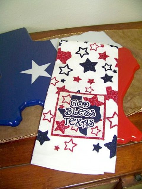 Kitchen Dish or Hand Towel - God Bless Texas
