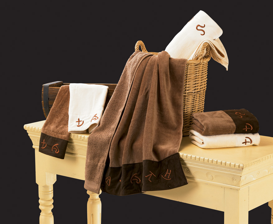 Embroidered Texas Barbwire Bath Towel Set - Texas Towels
