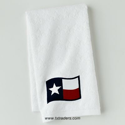 Texas Kitchen or Bathroom Towel & The Texas Flag