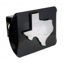 Texas Map Chrome Trailer Hitch Cover