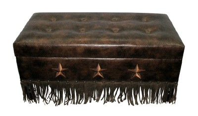 Trunk with Embroidered Texas Lone Stars