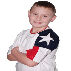 Toddlers and Kids T-Shirt - Texas Flag on the Sleeve
