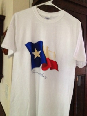 Texas T-Shirt - Texas Flag and Texas Glory