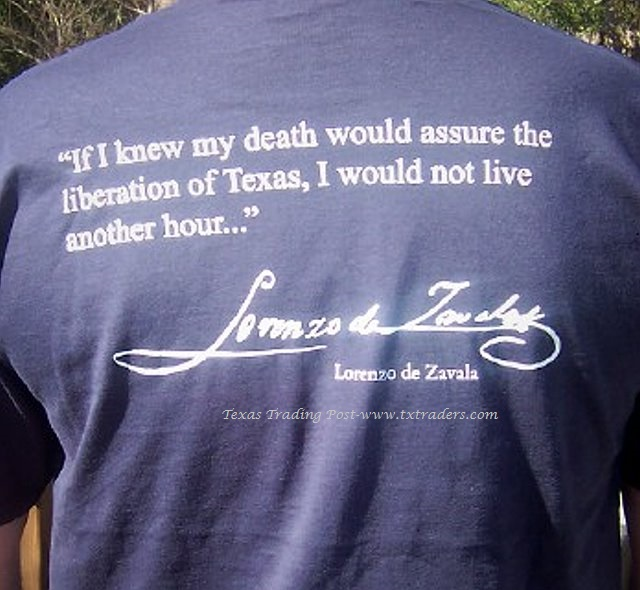 If I knew my death would... de Zavala Texas T-Shirt