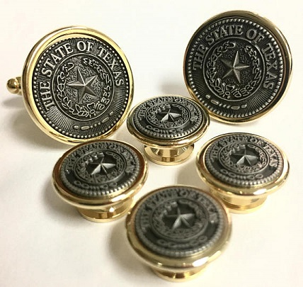 Texas Cufflinks and Tux Set - Texas State Seal