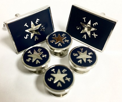 Texas Cufflinks and Tux Set - First Republic of Texas Battle Flag