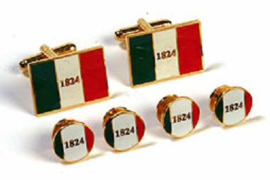 Texas Cufflinks and Tux Set - Alamo Flag 1824