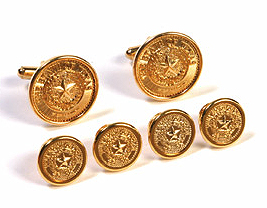 Cufflink and Tux Set - Texas State Seal - Gold 1103