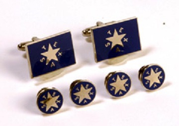 Cufflink and Tux Set - First Republic of Texas Battle Flag