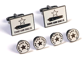 Cufflink and Tux Set - Come and Take It Texas Battle Flag
