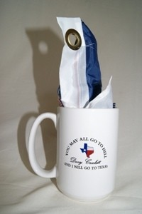 Texas Coffee Mug with Davy Crockett Quote and Texas Flag