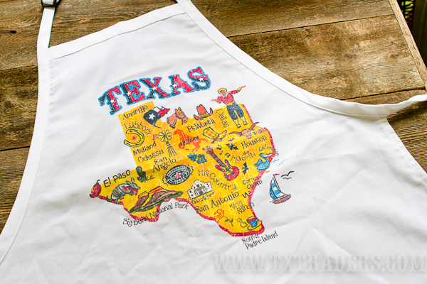 Texas Cities  BBQ Apron